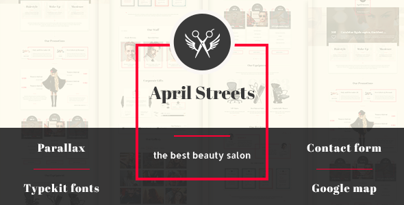 Demo - April Streets- Hair, Spa, Manicure - Muse Template