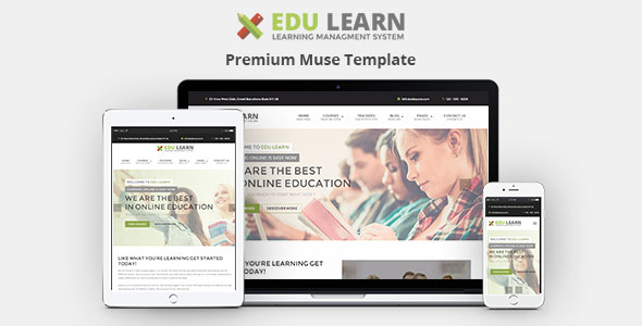 Demo - EduLearn - Education, School & Courses Muse Template
