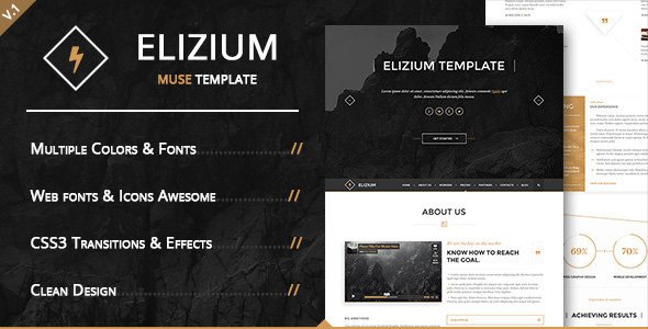 Demo - Elizium - Landing Page Muse Template