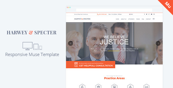 Demo - Harvey & Specter | Law Firm Muse Template