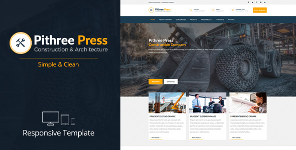 Demo - Pithree Press - Construction Business Responsive Muse Template