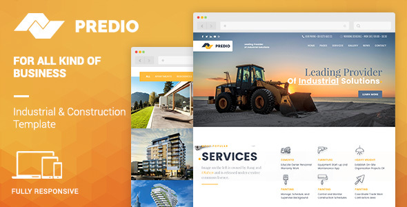 Demo - Predio Responsive | Industrial and Construction One Page Muse Template